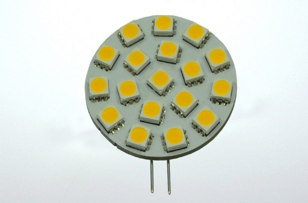 G4 LED-Modul LED18MG4L Niedervolt DC-kompatibel (gleichstrom-fähig) warmweiss (3000°K) dimmbar. Einsetzbar im Spannungsbereich: 10-18V AC
