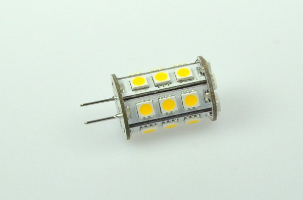 GY6.35 LED-Stiftsockellampe LED24STG6LKW Niedervolt DC-kompatibel (gleichstrom-fähig) kaltweiss (6000°K) dimmbar. Einsetzbar im Spannungsbereich: 10-18V AC
