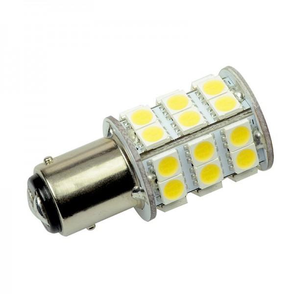 BAY15D LED-Bajonettsockellampe LED30STBAYLKW Niedervolt DC-kompatibel (gleichstrom-fähig) kaltweiss (6500°K) dimmbar. Einsetzbar im Spannungsbereich: 10-18V AC