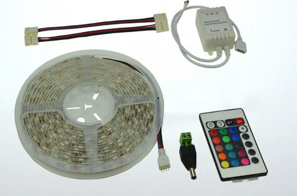 LED-Lichtband Niedervolt DC-kompatibel (gleichstrom-fähig) LED60RGBKit RGB dimmbar. Einsetzbar im Spannungsbereich: 12V DC