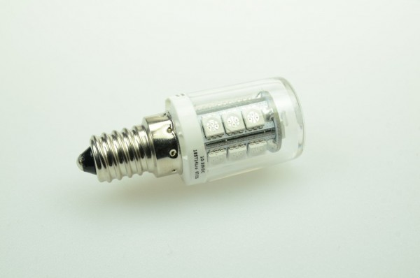 E14 LED-Stiftsockellampe LED18ST14Lgr Niedervolt DC-kompatibel (gleichstrom-fähig) warmweiss (3000°K) dimmbar. Einsetzbar im Spannungsbereich: 10-18V AC
