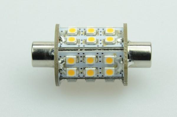 S8x42 LED-Soffitte LED30So42L Niedervolt DC-kompatibel (gleichstrom-fähig) warmweiss (2900°K) . Einsetzbar im Spannungsbereich: 10-18V AC