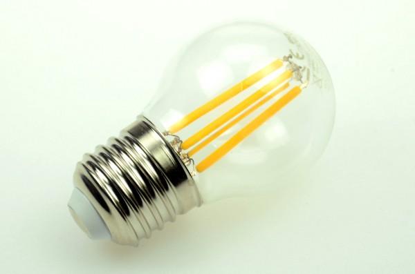 E27 LED-Globe LB45 LED4xFG4527Lk Hochvolt warmweiss (2700°K) . Einsetzbar im Spannungsbereich: 100-250V AC