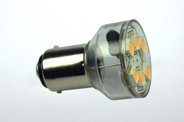 BA15D LED-Bajonettsockellampe LED6MBADLKW Niedervolt DC-kompatibel (gleichstrom-fähig) kaltweiss (6500°K) dimmbar. Einsetzbar im Spannungsbereich: 10-18V AC