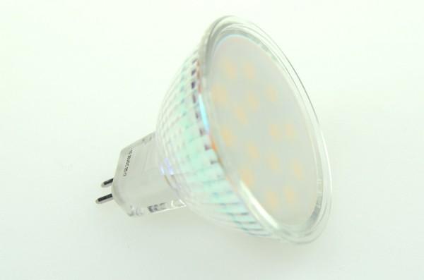 GU5.3 LED-Spot PAR16 LED15S53L Niedervolt DC-kompatibel (gleichstrom-fähig) warmweiss (3000°K) dimmbar. Einsetzbar im Spannungsbereich: 10-18V AC
