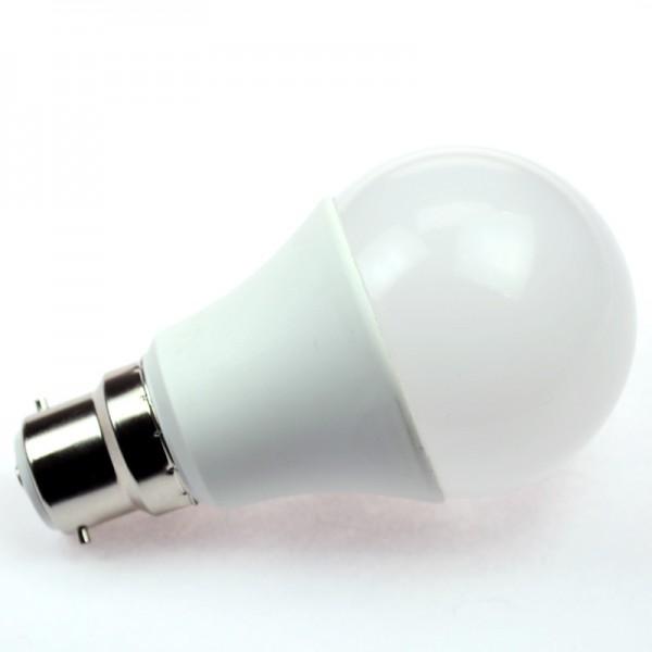 B22D LED-Globe LB60 LED8G60B22Lm Hochvolt DC-kompatibel (gleichstrom-fähig) warmweiss (3000°K) . Einsetzbar im Spannungsbereich: 85-265V AC