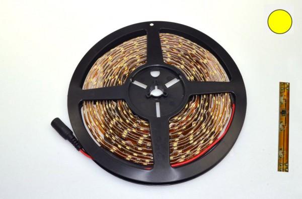 LED-Lichtband Niedervolt DC-kompatibel (gleichstrom-fähig) LED60B5br335o warmweiss (3200°K) Side View. Einsetzbar im Spannungsbereich: 12-14,8V DC