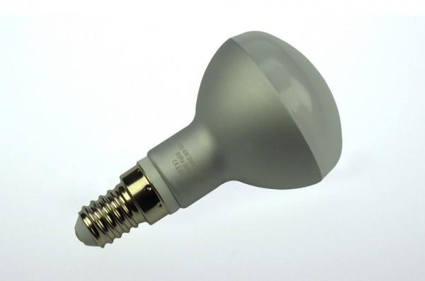 E14 LED-Reflektorlampe LED10R5014Lm Hochvolt DC-kompatibel (gleichstrom-fähig) warmweiss (2700°K) dimmbar. Einsetzbar im Spannungsbereich: 110-240V AC