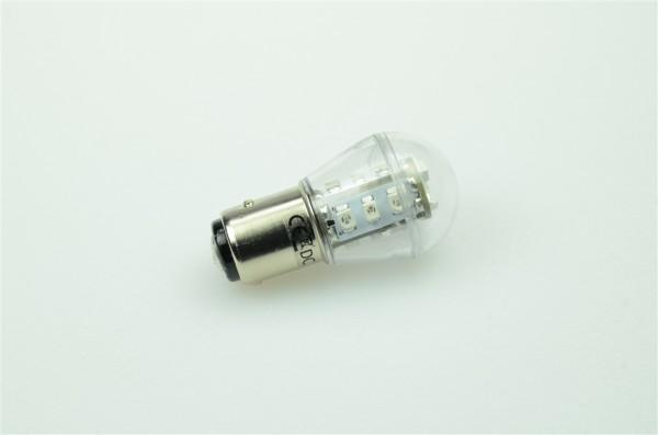BAY15D LED-Miniglobe LED15G25BAYLgr Niedervolt DC-kompatibel (gleichstrom-fähig) Grün dimmbar. Einsetzbar im Spannungsbereich: 10-18V AC