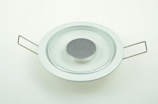 LED-Aufbauleuchte Niedervolt DC-kompatibel (gleichstrom-fähig) LED18DLLTD warmweiss (2700°K) Dimmschalter. Einsetzbar im Spannungsbereich: 10-15V DC