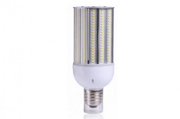 E27 LED-Strassenlampe LED160STR27LoNW Hochvolt neutralweiss (4000°K) IP64, 4KV, inkl. Stütze. Einsetzbar im Spannungsbereich: 100-277V AC