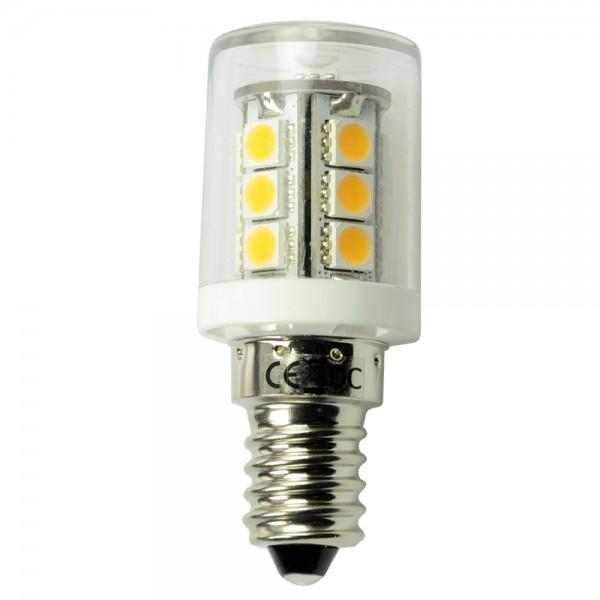 E14 LED-Stiftsockellampe LED18ST14L Niedervolt DC-kompatibel (gleichstrom-fähig) warmweiss (3000°K) dimmbar. Einsetzbar im Spannungsbereich: 10-18V AC